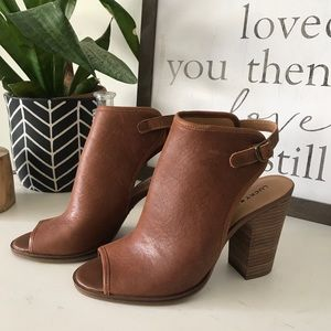 NEW LUCKY BRAND Leather mules booties shoes wedge